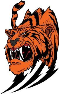 "6"" wide Growling Tiger. Printed vinyl decal sticker for any smooth surface such as windows bumpers laptops or any smooth surface."