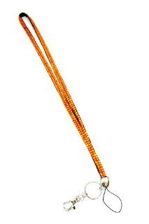 Colored Rhinestone Lanyards with ID Badge Holder & Key Chain Attached  Perfect for Nurses, Doctors, Lawyers, Gifts, Students and Anyone Else Who is Required to Wear an ID Badge or Simply us as a Rhinestone Keychain (REGULAR ORANGE)