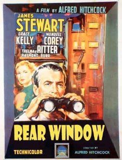 Alfred Hitchcock   Rear Window Classic Italian Huge Film PAPER POSTER measures approximately 100x70 cm Greatest Films Collection Directed by Alfred Hitchcock. Starring James Stewart, Grace Kelly, Thelma Ritter.   Prints