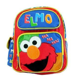 "Sesame Street Elmo Toddler Backpack and Elmo Deluxe Rectangle Tin Box Set, Backpack Size Approximately 13"" Toys & Games"