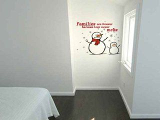Snowman Families Are Forever Because Love Never Melts Vinyl Wall Decal Sticker Graphics   Wall Decor Stickers