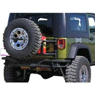 Or Fab 85207 Wrinkle Black Swing Away Tire Carrier for Jeep Wrangler JK Automotive