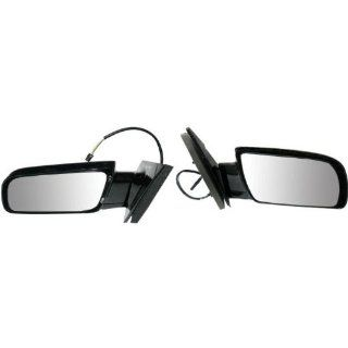 1988 1998 Chevy/Chevrolet Astro, GMC Safari Van Power Gloss Black Below Eyeline Type Rear View Mirror Pair Set Left Driver AND Right Passenger Side (1988 88 1989 89 1990 90 1991 91 1992 92 1993 93 1994 94 1995 95 1996 96 1997 97 1998 98) Automotive