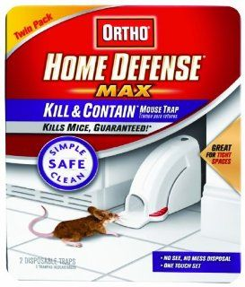 Ortho 0320110 Home Defense Max Kill & Contain Mouse Trap, Disposable 2 Pack Garden, Lawn, Supply, Maintenance  Lawn And Garden Spreaders  Patio, Lawn & Garden