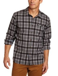 Quiksilver Waterman Men's Marina Dunes, Black, X Large at  Men�s Clothing store Button Down Shirts