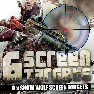 6 x Screen Targets *SNOW WOLF PACK* Contains 6 x Snow Wolf Designs Video Games