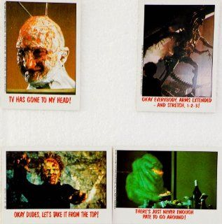 1988   Topps Chewing Gum   Did It Ever Happen?   4 Collectible Trading Cards   Nightmare on Elm Street III / Aliens / Day of the Dead / Ghostbusters   Out of Production   Rare   Collectible  Other Products