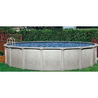 Tahitian 18ft Round 54in Hybrid Above Ground Swimming Pool with 8in Top Rails Color No Chemical Package Sports & Outdoors