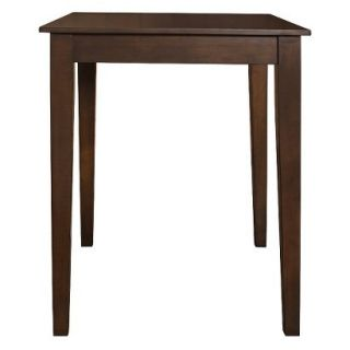 Dining Table Crosley Tapered Leg Pub Table   Mahogany