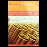 General Chemistry Atoms First  Access Kit
