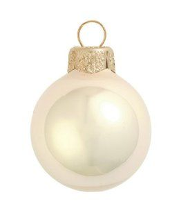 "12ct Pearl Champagne Gold Glass Ball Christmas Ornaments 2.75"" (70mm)"