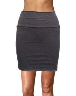 Ladies Basic Solid Color Mini Skirt, USA Made, Multiple Colors Available