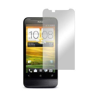 HTC One V Lcd Screen Protector Cover Kit Film Guard W/ Mirror Effect Cell Phones & Accessories