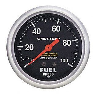 Auto Meter 3412 Sport Comp Mechanical Fuel Pressure Gauge Automotive