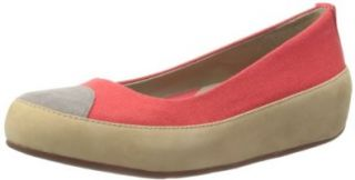 FitFlop Womens's Due Canvas Ballet Flat Fit Flops Flats Shoes