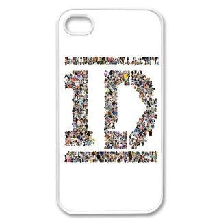 Apple iPhone 4 4G 4S COLLAGE SYMBOL ONE DIRECTION 1D BOY BAND WHITE Sides Case Cell Phones & Accessories
