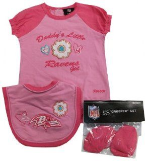 Baltimore Ravens Newborn / Infant / Baby Daddy's Little Girl 3pc Onesie Bib and Bootie Set 6/9 Months  Sports & Outdoors