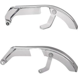 BK Rider 60295 87 Upper Rear Belt Guard Chrome (ea) For Harley Davidson 1987 1994 FXR FXRS FXRS SP FXLR FXRS CON (Except FXRT) Replace 620295 87 60297 87 91739 87 Automotive