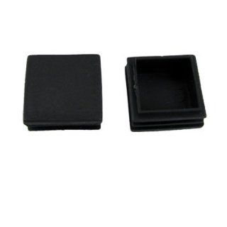 38mm x 38mm Plastic Square Tube Inserts End Blanking Cap Black 10 Pcs   Collectible Building Accessories