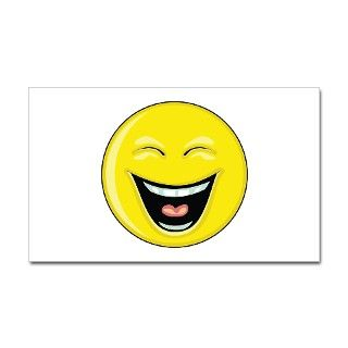 Smiley Face   LOL Laughing Rectangle Decal by wheedesign