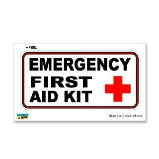 Emergency First Aid Kit   Business Store Sign   Window Wall Sticker Automotive