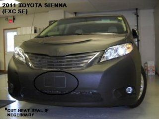 Lebra 2 Piece Front End Cover Black   Car Mask Bra   Fits   Toyota Sienna Except Se and Limited models 2011 2012 2013 Automotive