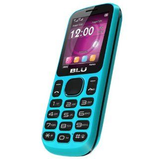 BLU T172 Jenny Unlocked Quad Band Dual SIM Phone with Camera, Bluetooth, microSD Card Slot and  Player   No Warranty   Blue Cell Phones & Accessories