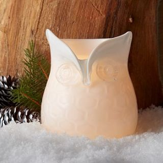 glass owl candle holder by posh totty designs interiors