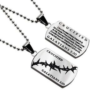 "Christian Mens Stainless Steel Abstinence ""Crucified   I Am Crucified with Christ It Is No Longer I Who Live, but Christ Lives in Me. The Life I Now Live in the Flesh I Live By Faith. In the Son of God, Who Loved Me and Gave Himself up for Me   Galat"