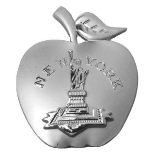 Matte Finished Big Apple Shape New York Statue of Liberty Metal Fridge Magnets NY Souvenir Kitchen & Dining