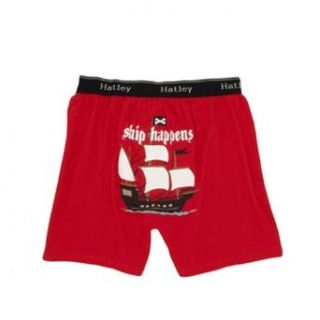 "Hatley ""Ship Happens"" Men's Cotton Jersey Boxer Shorts at  Men�s Clothing store"