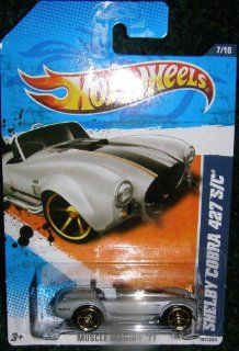 2011 HOT WHEELS MUSCLE MANIA '11 SILVER 7/10 SHELBY COBRA 427 S/C CONVERTIBLE 107/244 Toys & Games
