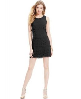 Jessica Simpson Sleeveless Colorblock Lace Sheath   Dresses   Women