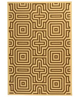 MANUFACTURERS CLOSEOUT Safavieh Indoor/Outdoor Area Rug, Courtyard CY2962 Natural / Brown 5 3 x 7 7   Rugs