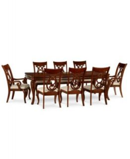 Crestwood Dining Room Furniture, 9 Piece Set (Dining Table, 6 Side Chairs and 2 Arm Chairs)   Furniture