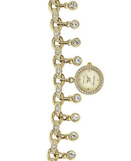Anne Klein Womens Crystal Charm Bracelet Watch 19mm AK 1456CHRM   Watches   Jewelry & Watches