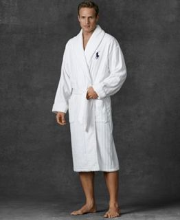 Polo Ralph Lauren Mens Sleepwear, Ribbed Shawl Collar Velour Robe   Pajamas, Robes & Slippers   Men
