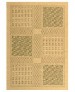 MANUFACTURERS CLOSEOUT Safavieh Area Rug, Courtyard Indoor/Outdoor CY1928 1E01 Natural/Olive 7 10 x 11   Rugs