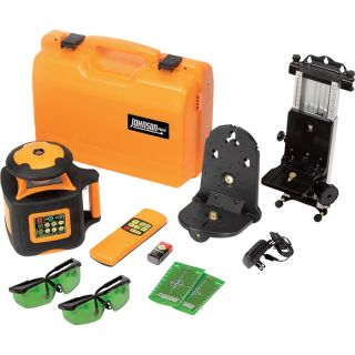 Johnson Level & Tool Electronic Self-leveling Rotary Laser Level with GreenBrite Technology Kit, Model# 40-6545  Laser Levels