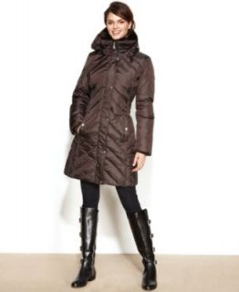 Kenneth Cole Reaction Wool Blend Side Buckle Walker Coat   Coats   Women