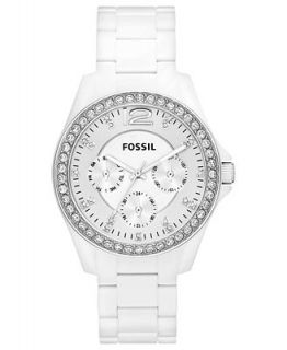 Fossil Womens Riley White Nylon Plastic Bracelet Watch 38mm ES3252   Watches   Jewelry & Watches