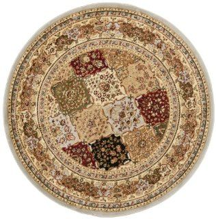 Safavieh LNH221G Lyndhurst Collection Round Area Rug, 5 Feet 3 Inch Diameter, Grey   Machine Made Rugs