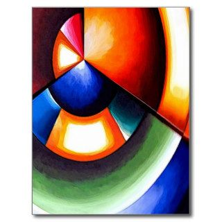 Original Abstract Cubist Art Post Cards