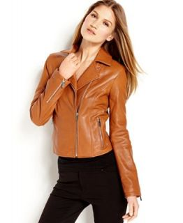 Calvin Klein Leather Moto Jacket   Jackets & Blazers   Women