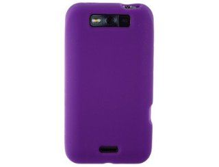 Durable Wrap On Silicone Skin Phone Protector Cover Case Dark Purple For LG Connect Cell Phones & Accessories