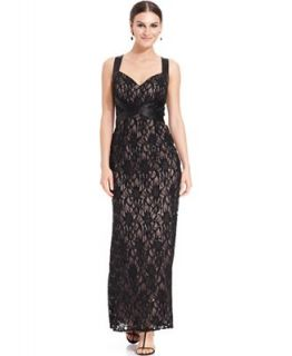 Ignite Dress, Sleeveless Contrast Sequin Lace Gown   Dresses   Women