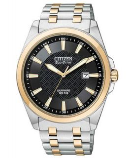 Citizen Mens Eco Drive Two Tone Stainless Steel Bracelet Watch 41mm BM7106 52E   Watches   Jewelry & Watches