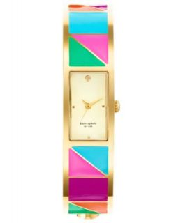 kate spade new york Watch, Womens Carousel Multi Color Glitter Gold Tone Bangle Bracelet 16mm 1YRU0243   Watches   Jewelry & Watches