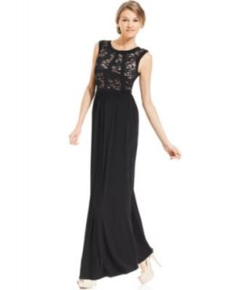 R&M Richards Sequin Illusion Lace Gown   Dresses   Women