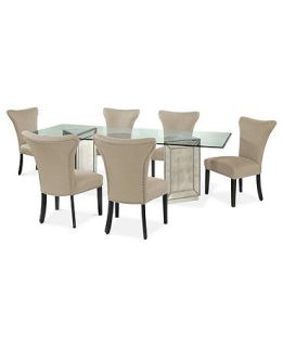 Sophia Dining Room Furniture, 7 Piece Set (96 Table and 6 Side Chairs)   Furniture